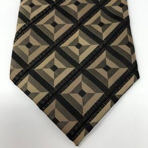 Hugo Boss Black & Gold 100% Silk Tie
